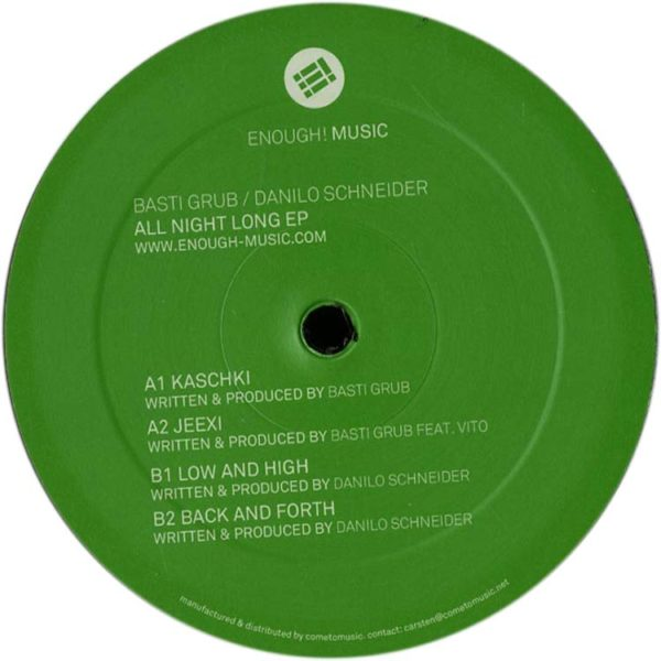 EP // All Night Long – B. Grub, D. Schneider